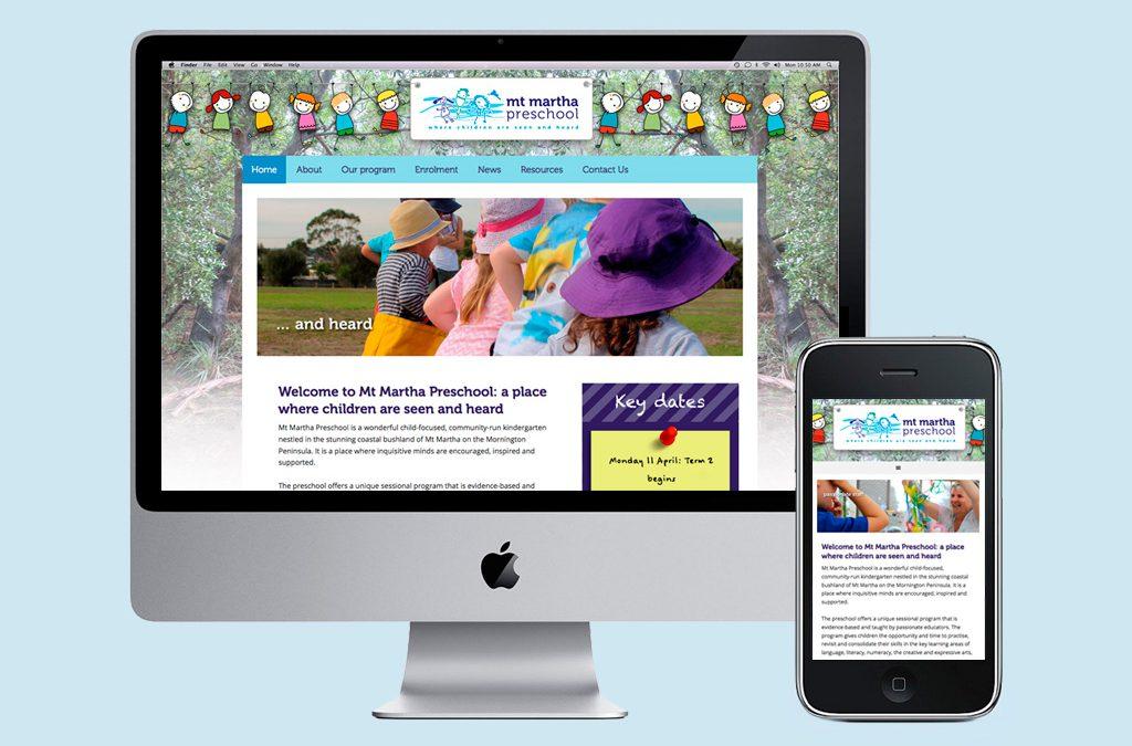 Mt Martha Preschool – Web design and developement