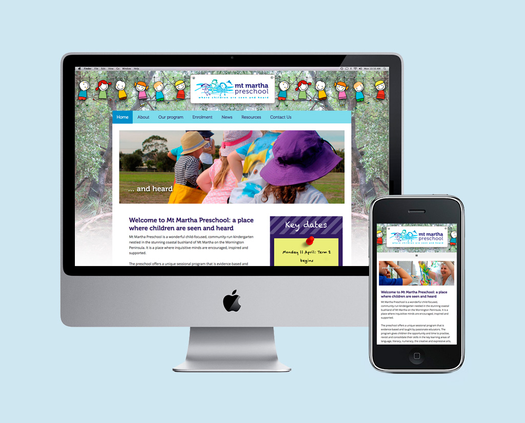 Mt Martha Preschool – Web design and developement